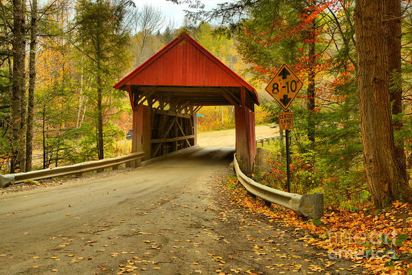 Photograph - Morristown Red Covered Bridge by Adam Jewell
