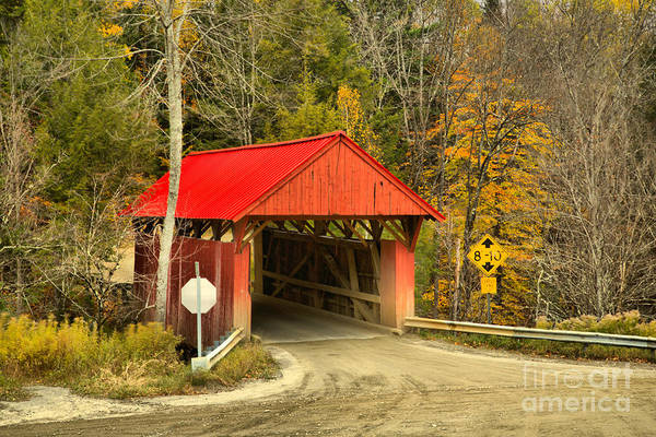 Photograph - Morristown Vermont Covered Bridge by Adam Jewell
