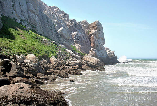 Photograph - Morro Rock And Ocean by Michael Rock