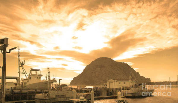 Photograph - Morro Rock Sky by Michael Rock