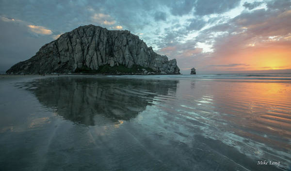 Morro Rock Sunset Art Print