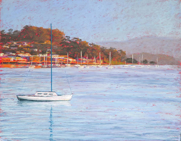 Morro Bay Painting - Morro Sails In Red by Jim Tyler