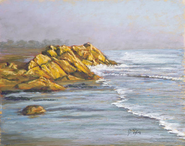 Morro Bay Painting - Morro Strand by Jim Tyler