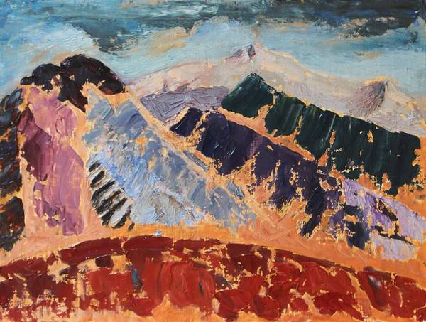Painting - Mosaic Canigou by Vera Smith