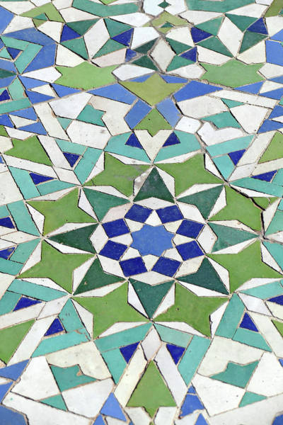 Mosaic Exterior Decorations Of The Hassan II Mosque Art Print