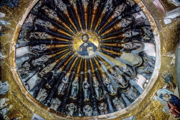 Pantocrator Photograph - Mosaic Of Christ Pantocrator by Christina Ford