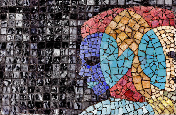 Wall Art - Photograph - Mosaic Tile ..abstract by Elaine Manley