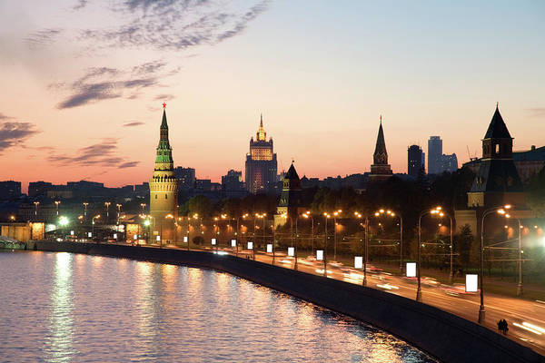 Quayside Photograph - Moscow City On Sunset Russia by Lp7