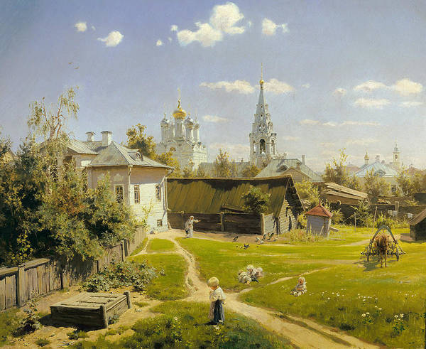 Painting - Moscow Courtyard by Vasily Polenov