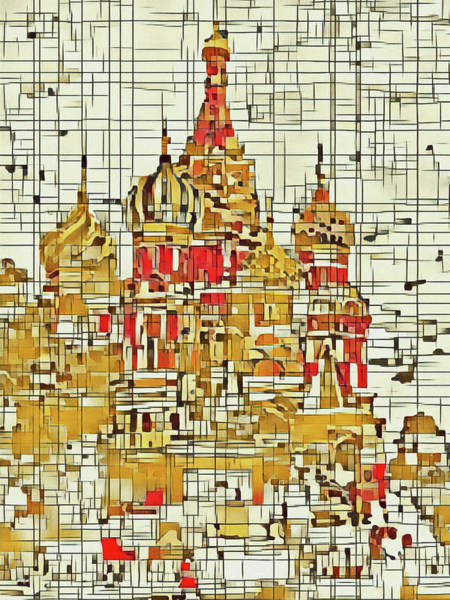 Digital Art - Moscow by David Hansen