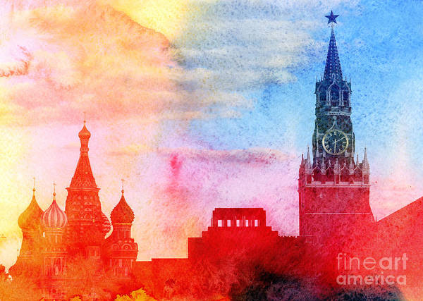 Wall Art - Photograph - Moscow Kremlin, Lenin Mausoleum And St by Tanor