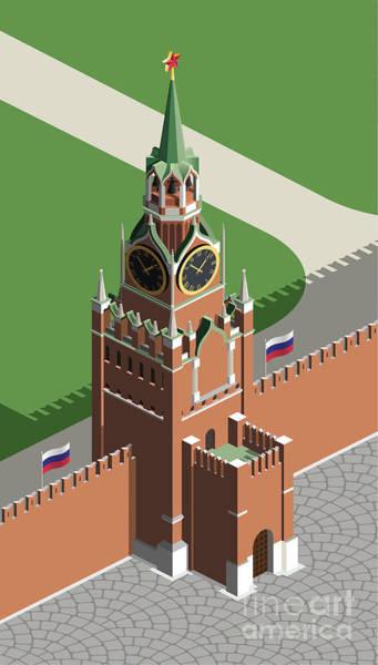 Wall Art - Digital Art - Moscow Kremlin Tower by Nikola Knezevic