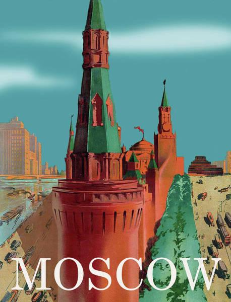 Wall Art - Digital Art - Moscow by Long Shot