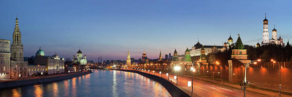 Wall Art - Photograph - Moscow River At Dusk by Siegfried Layda