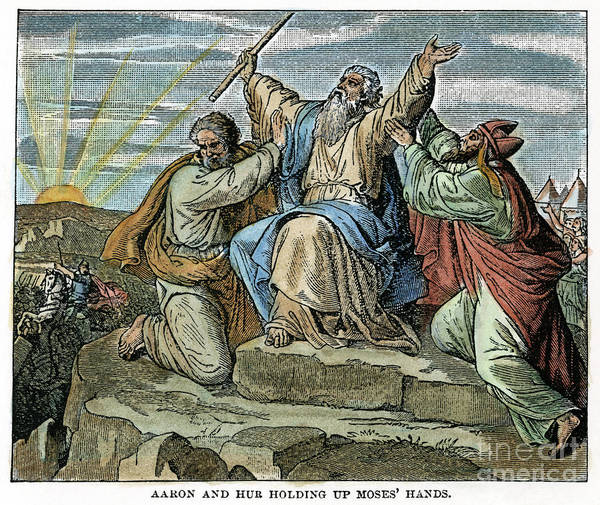 Drawing - Moses And The Amalekites by Granger