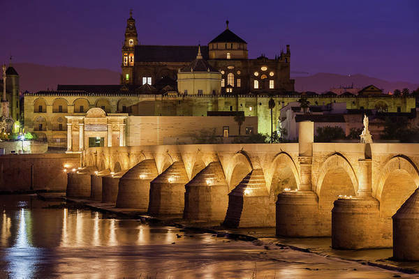 Wall Art - Photograph - Mosque Cathedral And Roman Bridge In Cordoba by Artur Bogacki