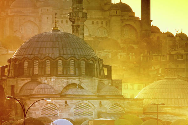 Suleymaniye Mosque Photograph - Mosque Of Rustem Pasha With Suleymaniye by George Tsafos