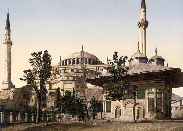 Wall Art - Photograph - Mosque Of St. Sophia - 1890 by War Is Hell Store