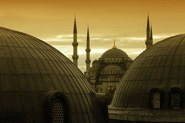 Wall Art - Photograph - Mosques In Sultanahmet, Istanbul, Turkey by Tunart