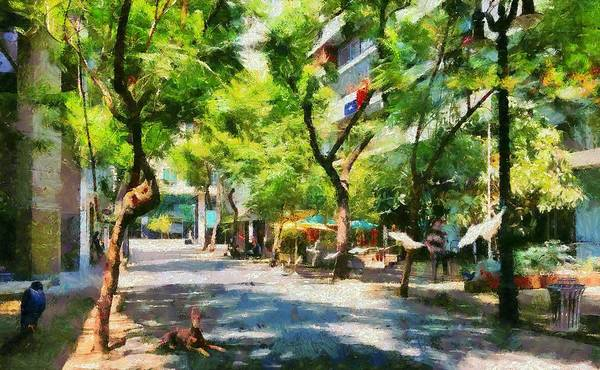 Digital Art - Mosqueto Street In Santiago Chile by Caito Junqueira