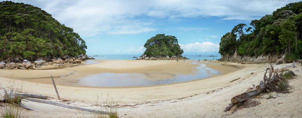 Photograph - Mosquito Bay Abel Tasman National Park New Zealand Panorama by Joan Carroll