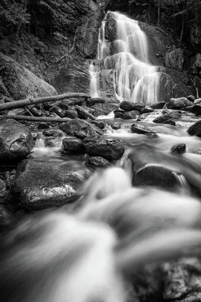 Photograph - Moss Glen Falls And Deer Hollow Brook In Black And White by Rick Berk