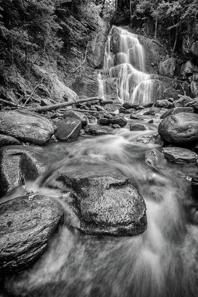 Photograph - Moss Glen Waterfall In Black And White by Rick Berk