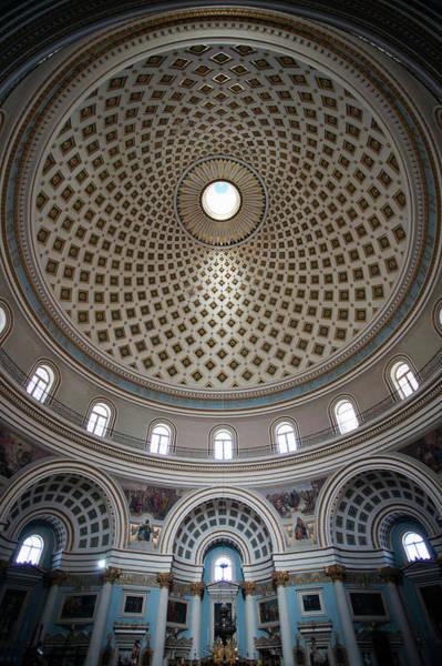 Rotunda Photograph - Mosta Dome Church, Interior, Mosta by Danita Delimont