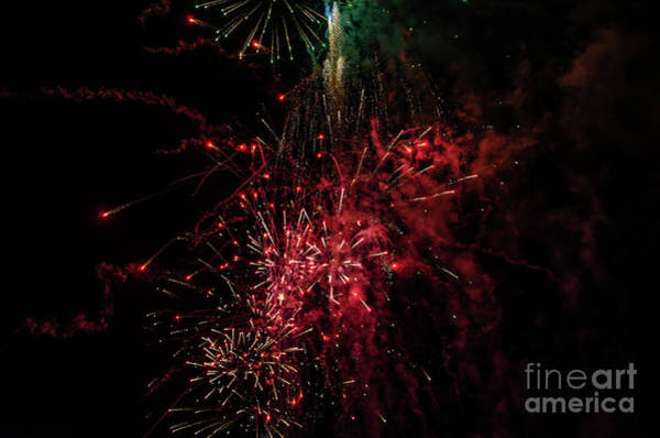 Photograph - Mostly Red And White Fireworks by Sue Smith