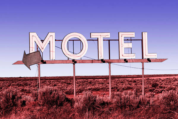 Photograph - Motel Nowhere Infrared Film Style by Mark Kiver