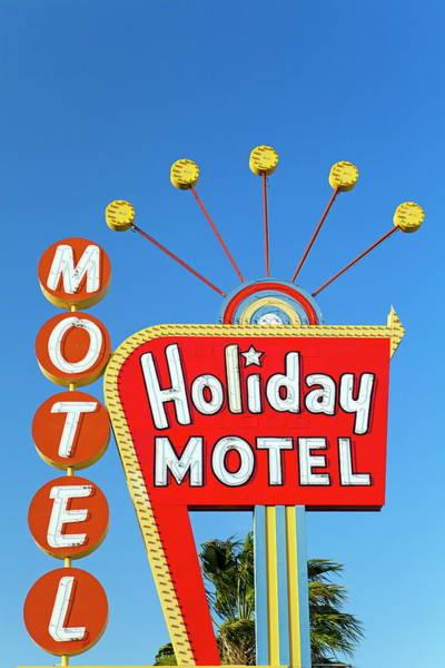 Kitsch Photograph - Motel Sign, The Strip, Las Vegas by Gavin Hellier / Robertharding