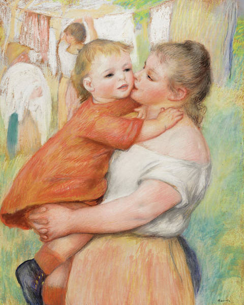 Wall Art - Painting - Mother And Child, 1886 by Pierre-Auguste Renoir