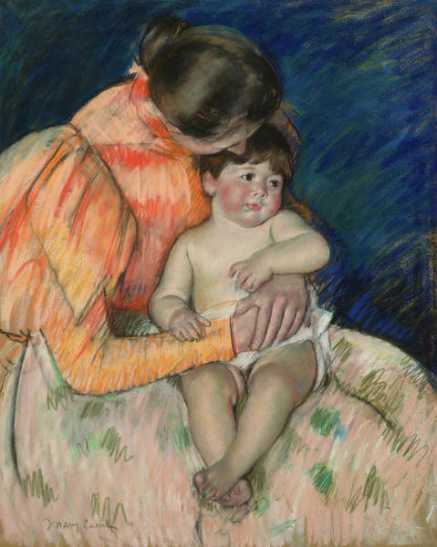 Wall Art - Painting - Mother And Child, 1895 by Mary Cassat
