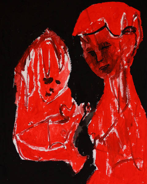 Painting - Mother And Child by Artist Dot