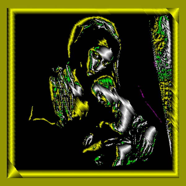 Digital Art - Mother And Child In Gold by Mary Russell