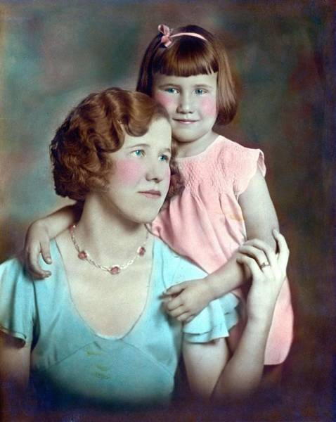 Painting - Mother And Daughter 1933 by Celestial Images
