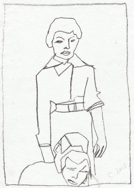 Drawing - Mother Drawing by Artist Dot