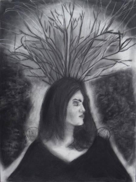 Drawing - Mother Earth by Nadija Armusik