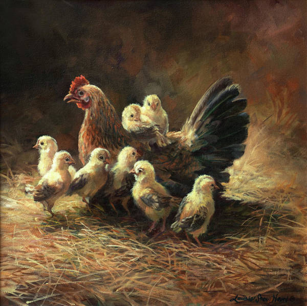 Wall Art - Painting - Mother Hen by Laurie Snow Hein