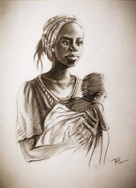 Painting - Mother by Katerina Kovatcheva