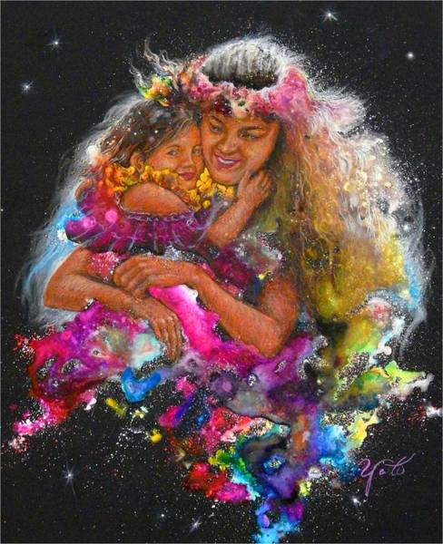 Endless Love Painting - Mother Love Is Forever by John YATO