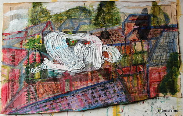 Mixed Media - Mother Money Hibernates To The Detriment Of Us All by Siobhan Dempsey
