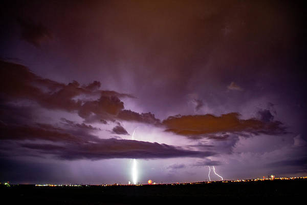 Photograph - Mother Nature's Fireworks Finale 001 by Dale Kaminski