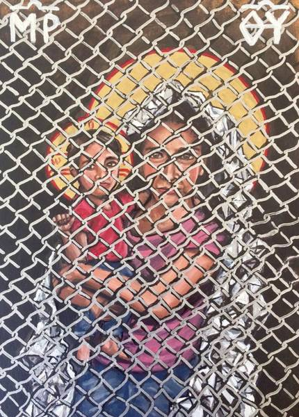 Painting - Mother Of God Protectress Of The Oppressed  by Kelly Latimore