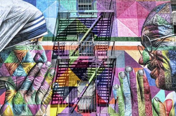 Wall Art - Photograph - Mother Teresa And Gandhi Mural by Allen Beatty