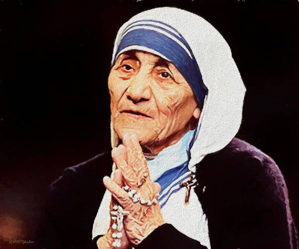Photograph - Mother Teresa - Painting by Ericamaxine Price