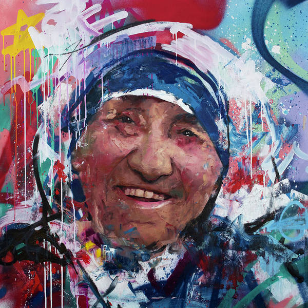 Wall Art - Painting - Mother Teresa by Richard Day