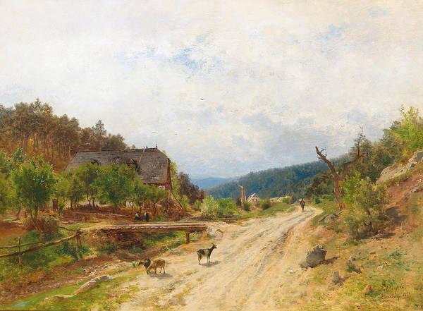 Painting - Motif Of Emmerberg by Eduard Peithner von Lichtenfels