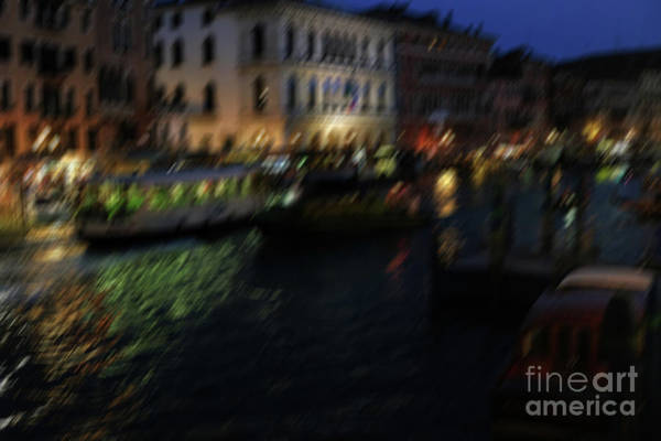 Photograph - Motion Blu At Nightr Lights And Reflections Of Venice by Marina Usmanskaya
