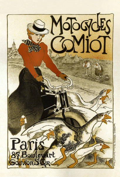 Painting - Motocycles Comiot Vintage French Advertising by Vintage French Advertising